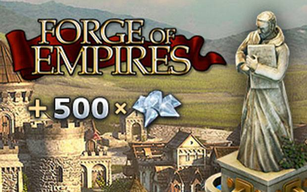 Forge of Empires: 500 Diamanten extra für Starter