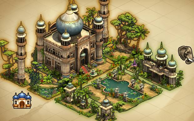 Forge of Empires Sommer Event Set Gebäude