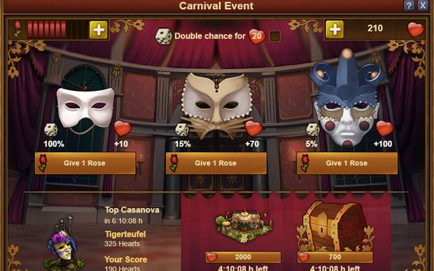 Forge of Empires Venedig Event Masken